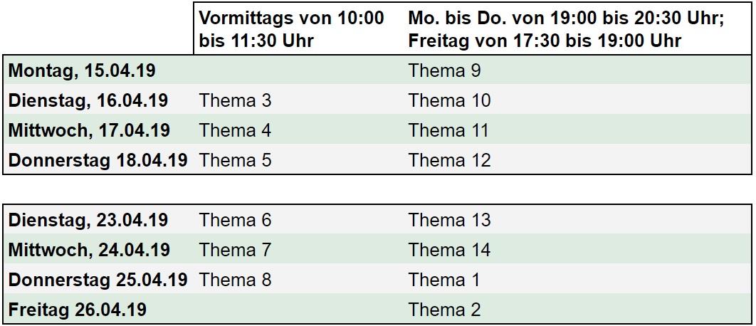 Fahrschule Leverkusen Osterferien-Intensivkurs Termin
